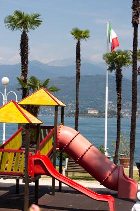 Playground next to the lake