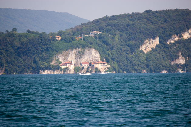 The Santa Caterina monastery carved out of the cliffside