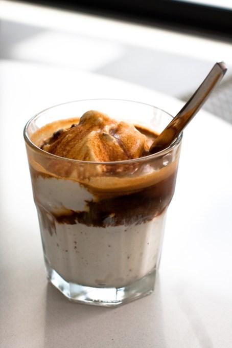 Affogato (ice cream drowned in espresso) by Sam Breach