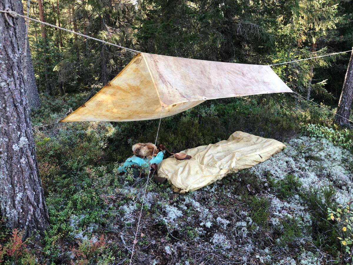 LBN 10 days living on the frontier sleeping set up