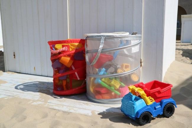 Strandcabine inrichten: strandspeelgoed