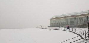 Oostende in de sneeuw
