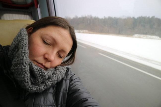 Op reis met de bus.
