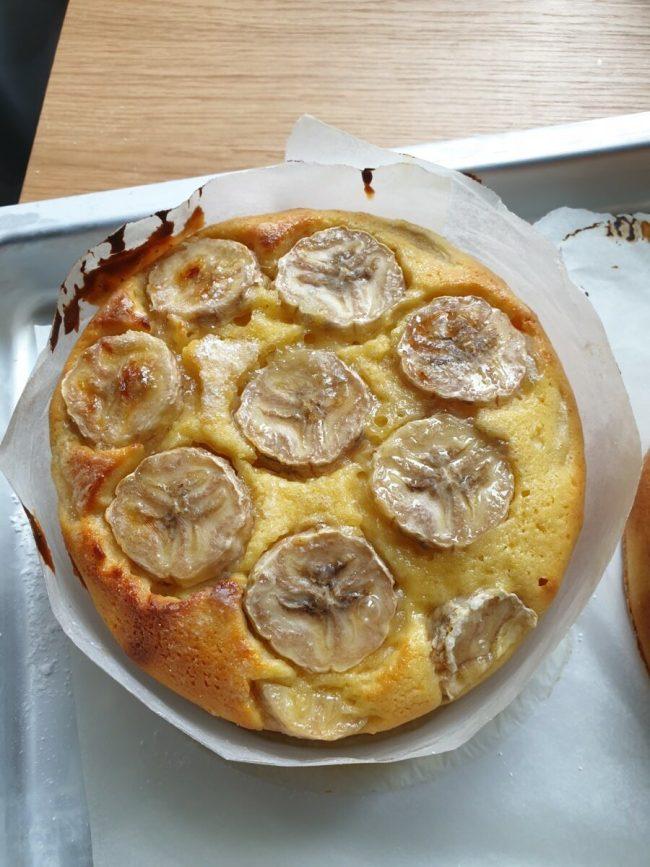 Bananencake zonder boter