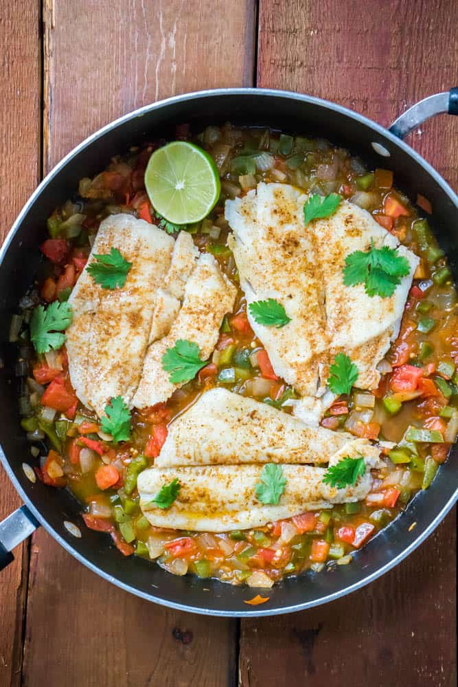 Spicy Creole Flounder