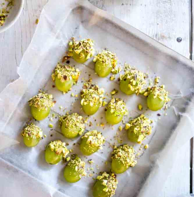 Honey Pistachio Frozen Grapes