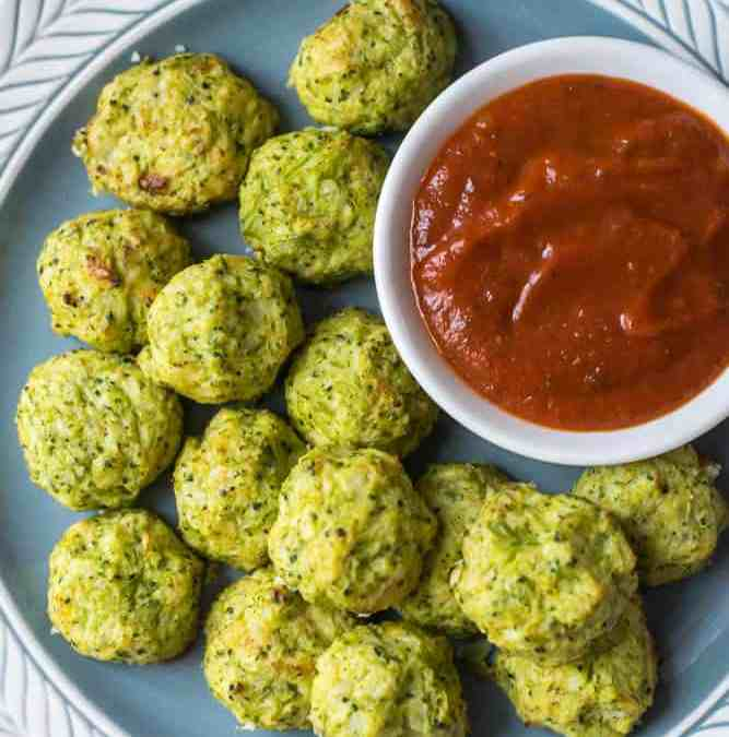 Simple Cheesy Cauliflower Broccoli Tots