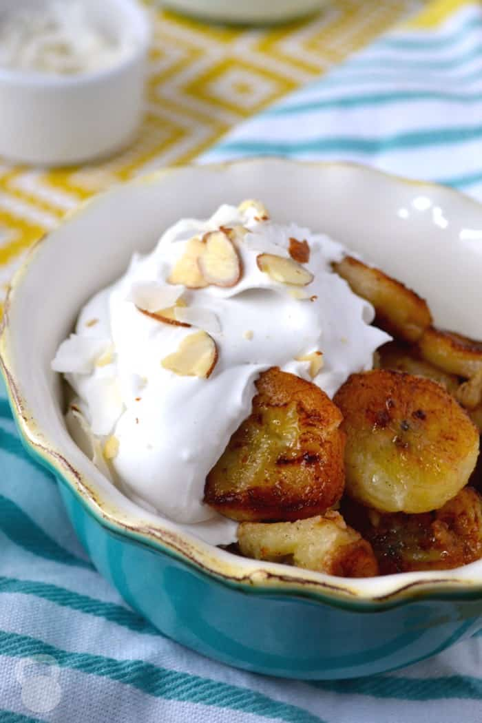 Pan Fried Bananas with Coconut Cream
