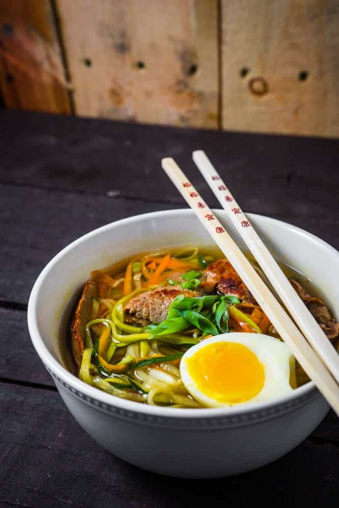 Authentic Beef Ramen with Zoodles