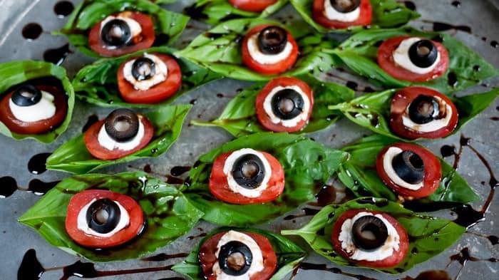 Eyeball Caprese Salad
