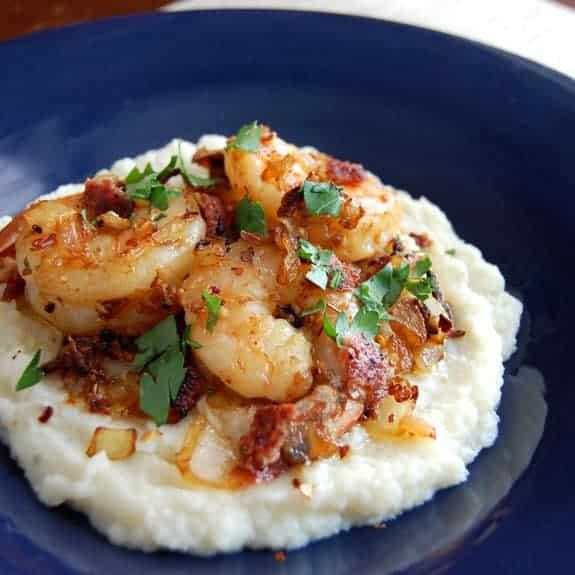 shrimp and cauliflower grits