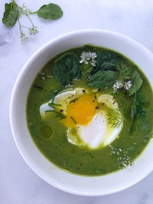 Broccoli Spinach Soup healthy low carb whole 30 paleo gluten free