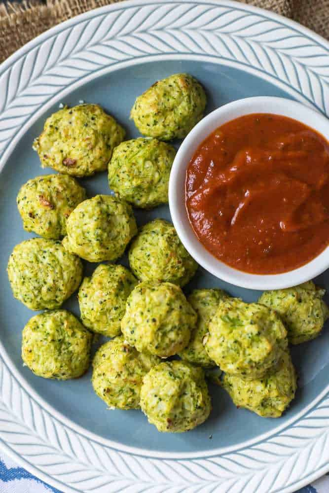 Simple Cheesy Cauliflower Broccoli Tots healthy low carb whole 30 paleo gluten free