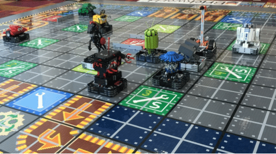 Gen Con 2015 The Games Played Part 2 Report  Super Robo Rally     Each player programs their robots commands on an Android cell phone using a  custom user interface that not only submits you decisions but also displays