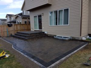 Paver Stone Patio Construction