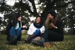 three friends having gospel conversations
