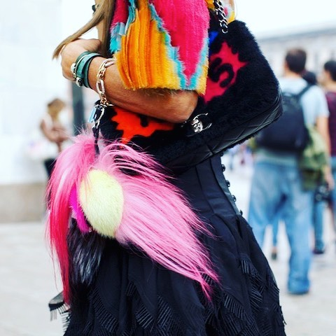 Colorful and vibrant streetfashion in milan milano for fashionweek milanomodadonnahellip