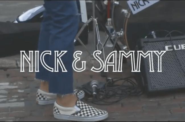 nick and sammy video, busking on sixth street, austin texas, sxsw, music