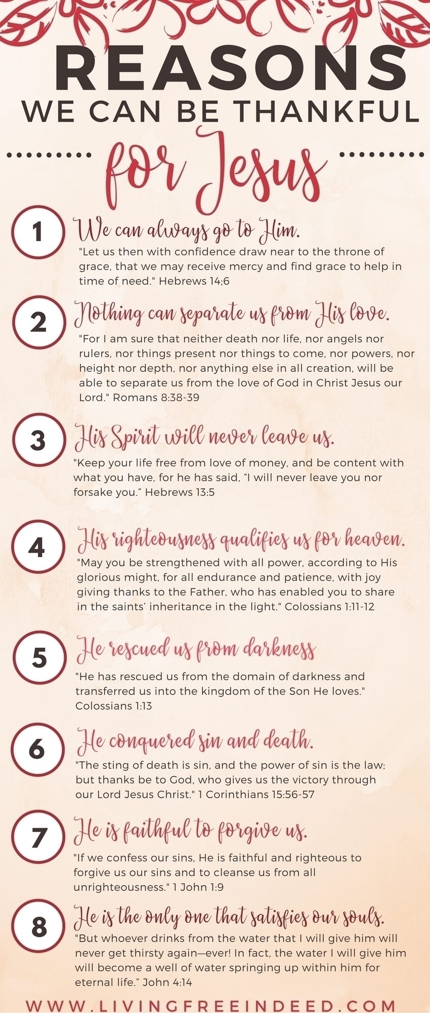 Thankful for Jesus Infographic