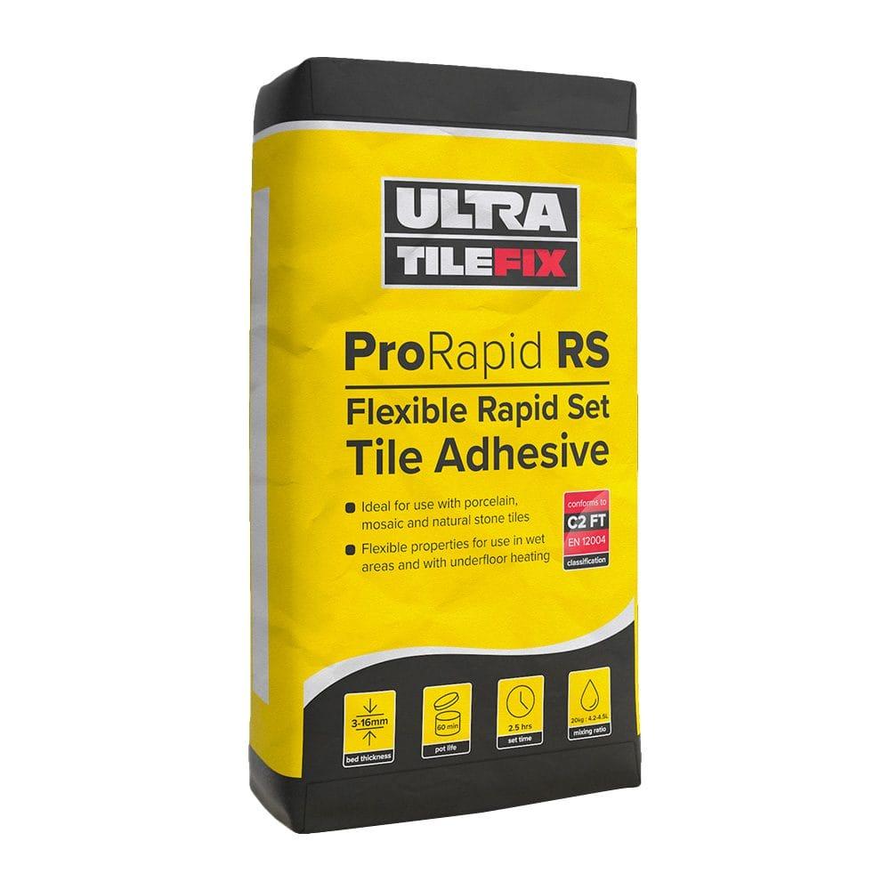 ultratile fix prorapid rs flexible rapid set adhesive 20kg