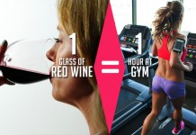 red wine have a relation with gym