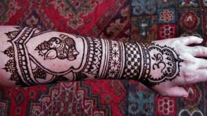 Magnificent mehndi of Ganesh