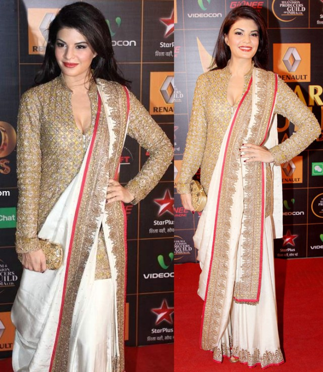 style-your-saree-with-jacket-blouse-like-jacqueline-new