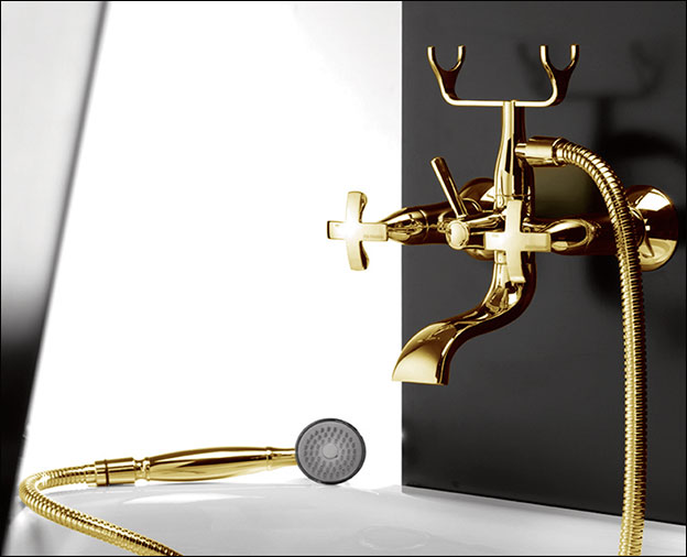 Gold Taps Bath Tap With Shower Attachment Coox