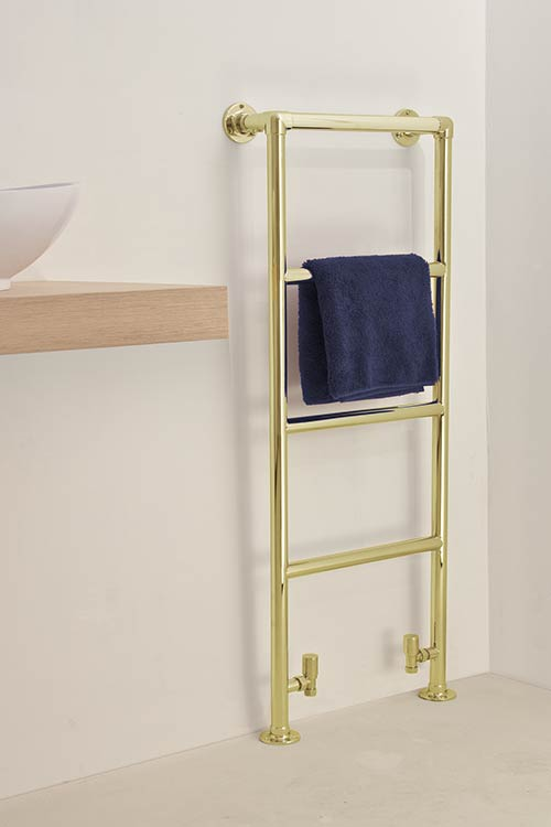 High Charterhouse Polished Brass Towel Warmer Brass