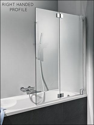 Bath Shower Screens Amp Folding Bath Screens In Frameless Glass