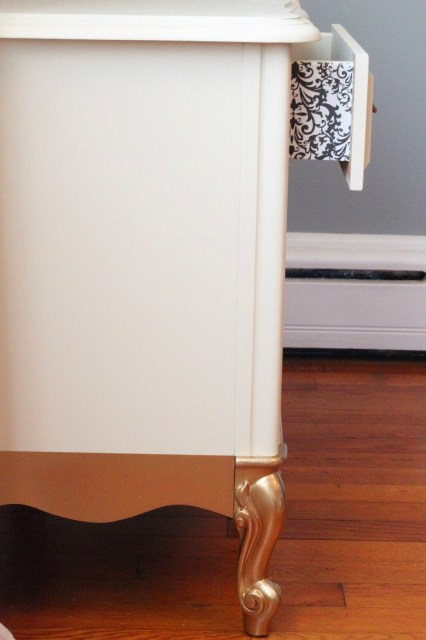 general finishes linen milk paint gold dipped lined drawers