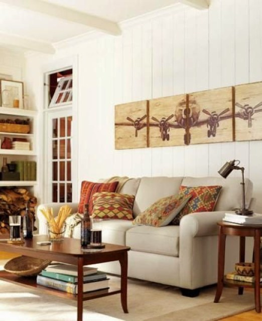 sofa table behind couch against wall. Via Pottery Barn Sofa Table Behind Couch Against Wall