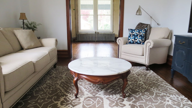 living room marble coffee table