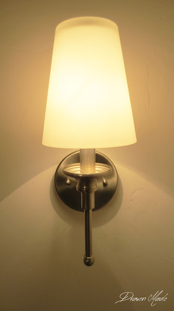 sconce light on