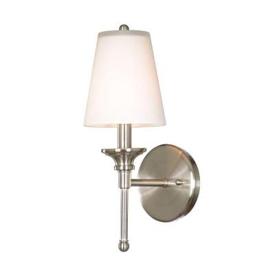 nickel sconce light