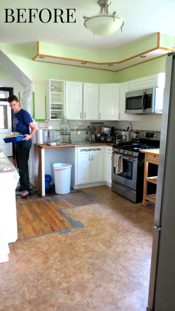kitchen floor wall paint renovation