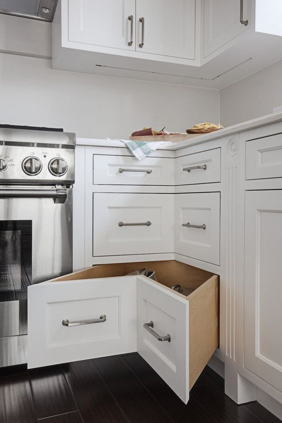 kitchen corner drawers