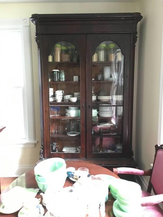 victorian empire bookcase stepback antique victoria elizabeth barnes