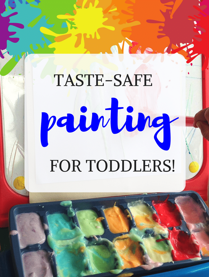 Got a toddler? This edible yogurt painting secret for toddlers is taste-safe and smells amazing!