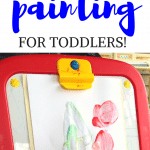 edible yogurt painting for toddlers
