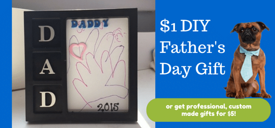 $1 Personalized Father's Day gift from the kids