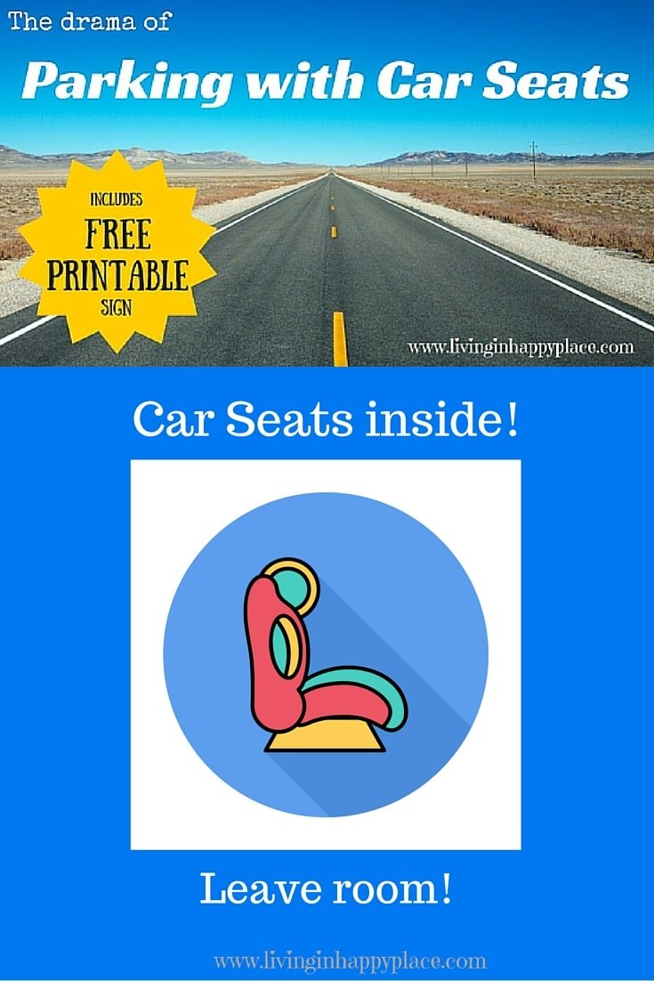 Parking with car seats in your vehicle is not easy!
