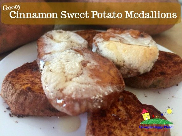 Gooey Cinnamon Sweet Potato Medallions Recipe