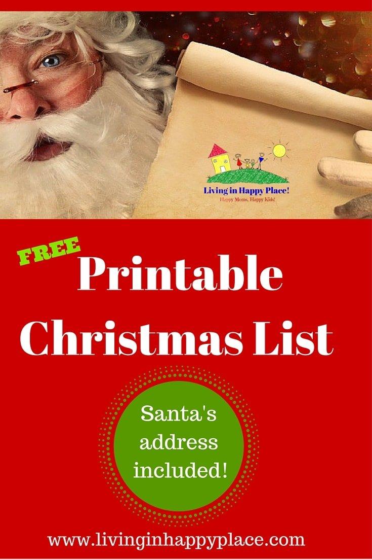 Printable, customizable Christmas list!
