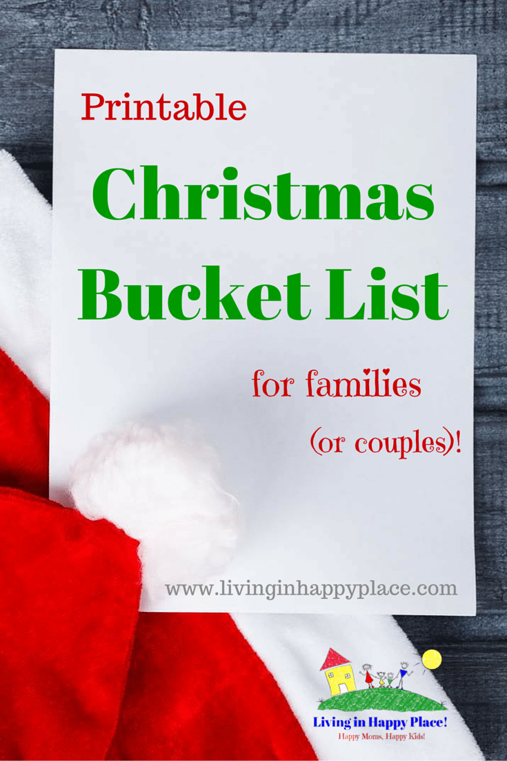 Christmas Bucket List of activities