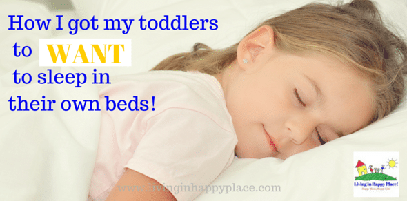 Think you have read all the tips on how to get children to sleep in their own beds at night? WAIT! I used this one trick to get my toddlers to WANT to sleep in their big kid beds! Make the transition to toddler bed easier with this trick!