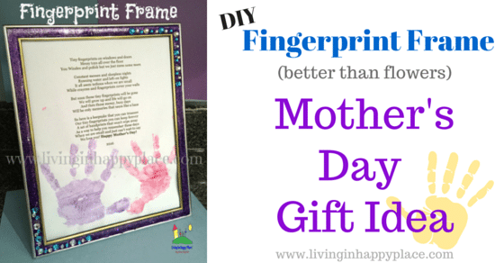 Grab your tissues mom! Poem and DIY Handprint Frame Mother's Day Gift Idea