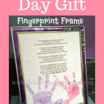DIY frame for mothers day gift
