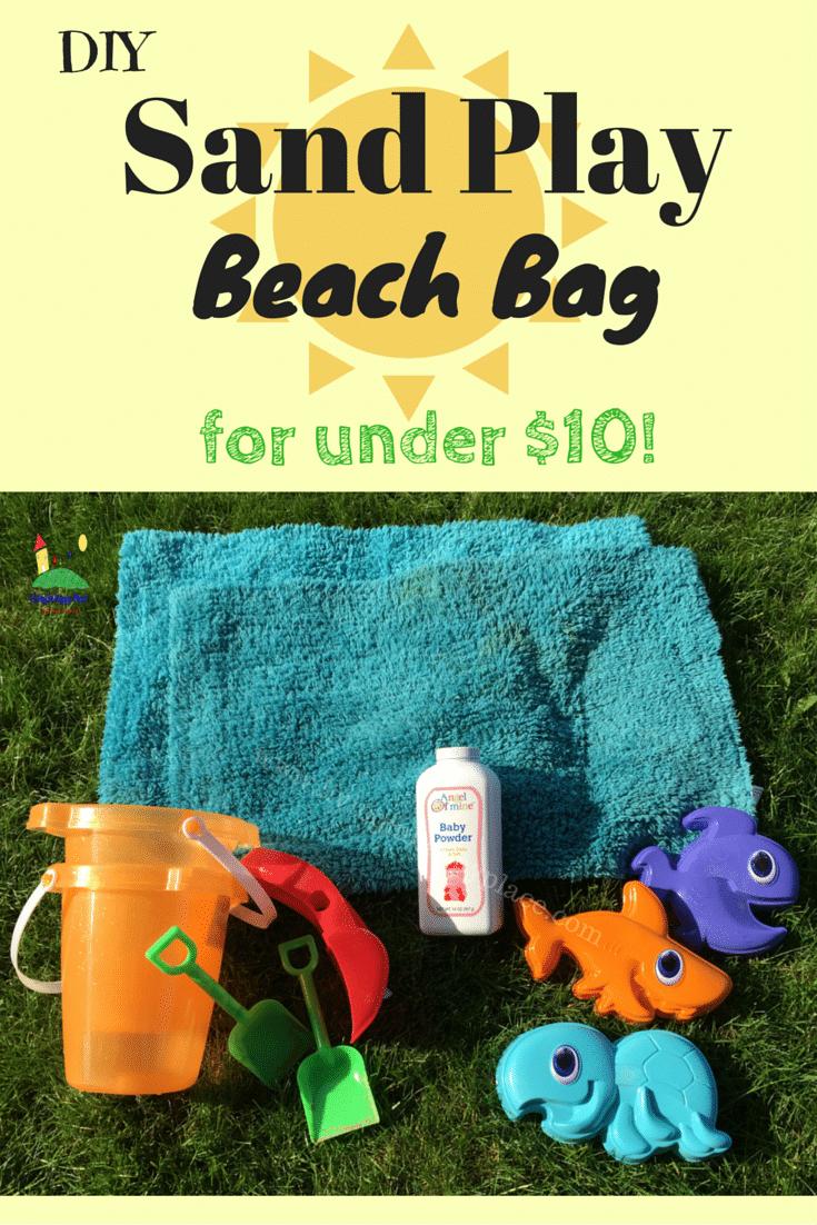 DIY Sand play beach bag