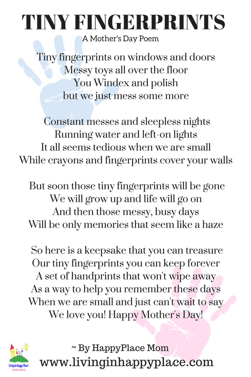 Poem for mom-Fingerprint poem Mother's Day gift